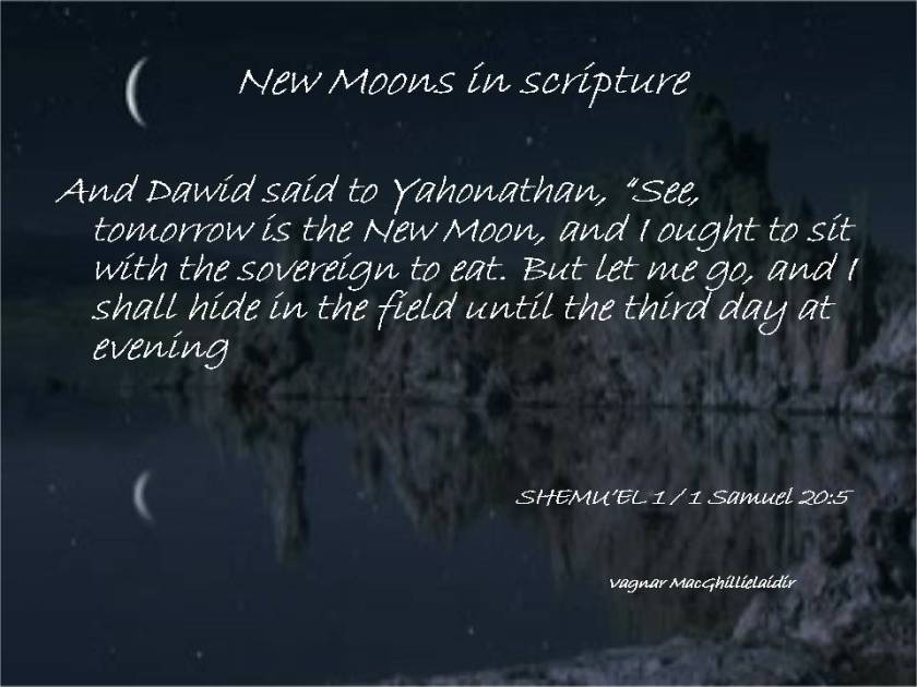 NEW MOON DAYS IN SCRIPTURE 1