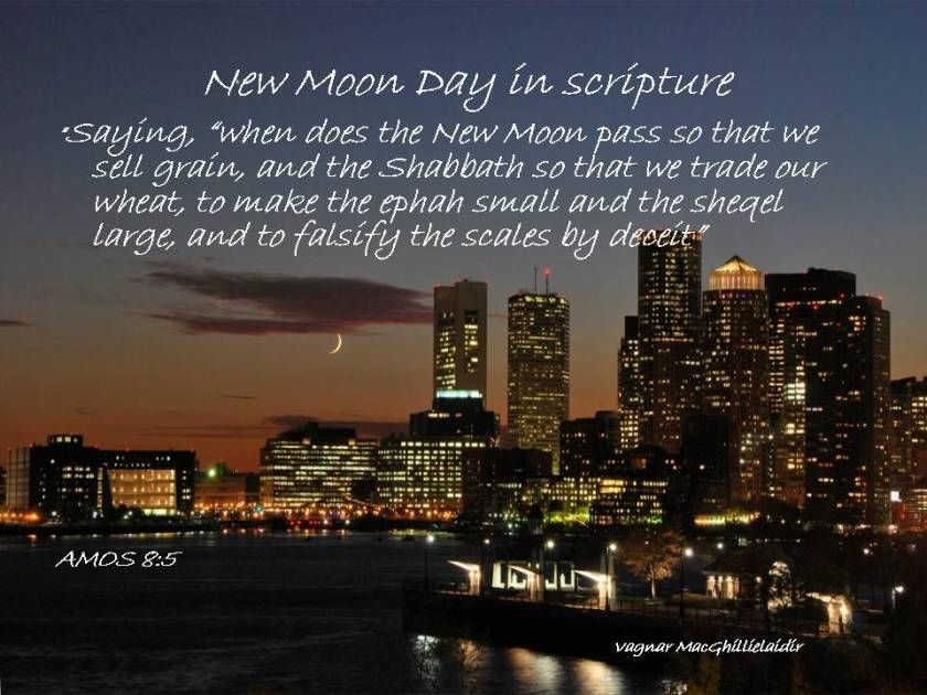 NEW MOON DAYS IN SCRIPTURE 13