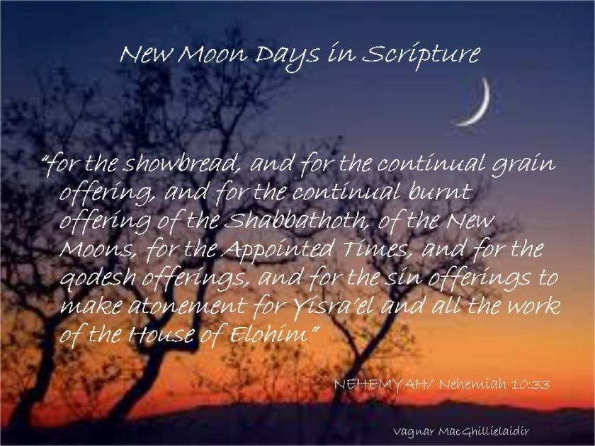 NEW MOON DAYS IN SCRIPTURE 16