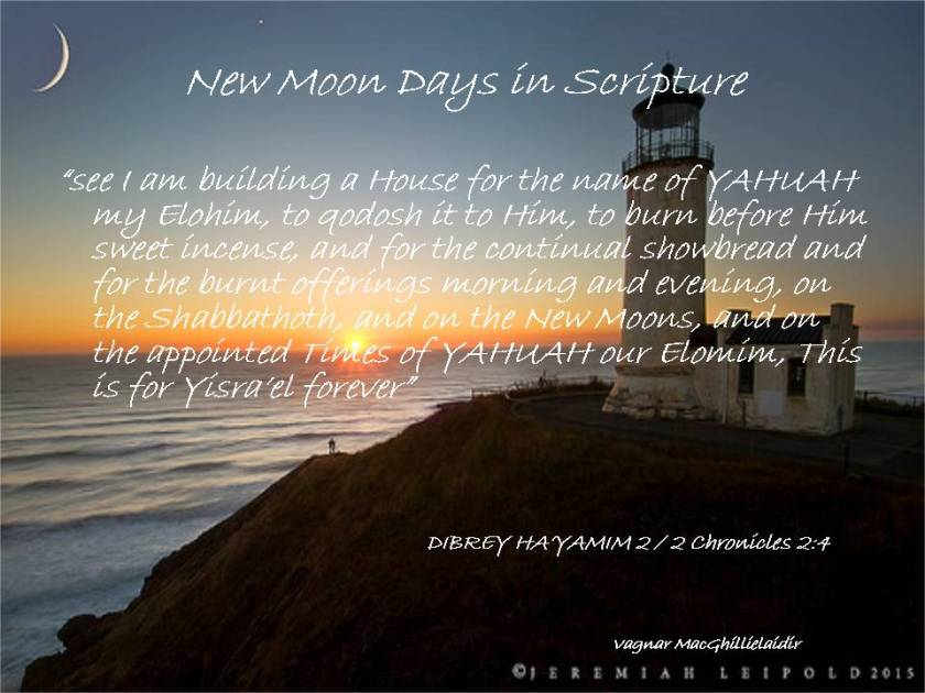 NEW MOON DAYS IN SCRIPTURE 18
