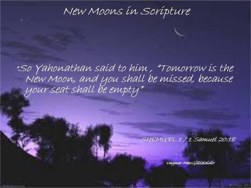 NEW MOON DAYS IN SCRIPTURE 2