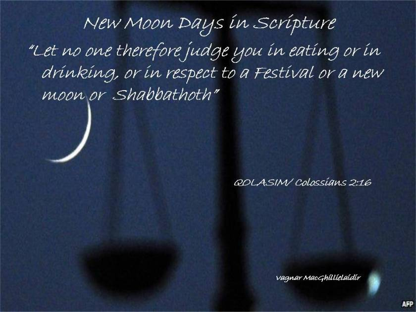 NEW MOON DAYS IN SCRIPTURE 20