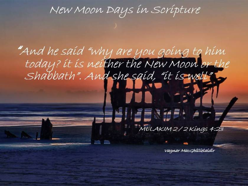 NEW MOON DAYS IN SCRIPTURE 4