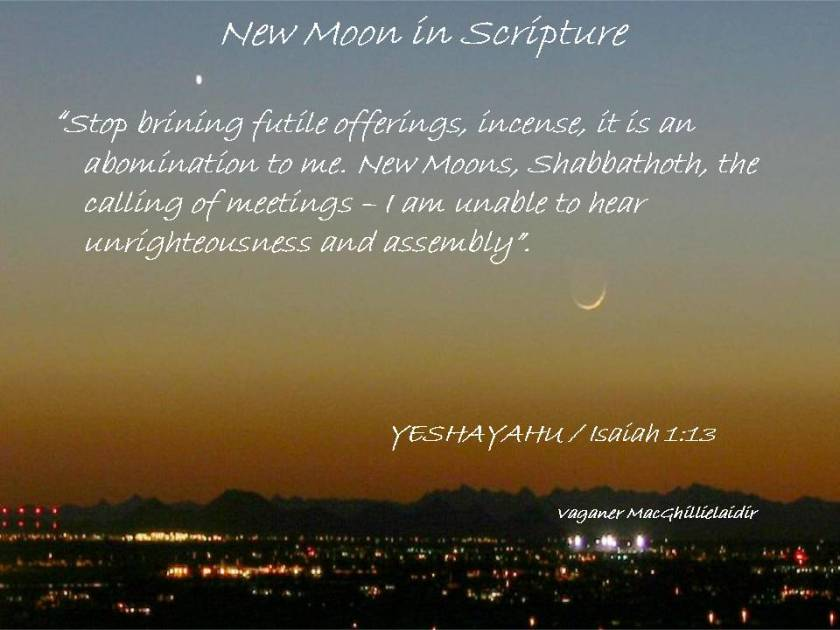 NEW MOON DAYS IN SCRIPTURE 5