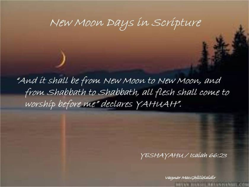 NEW MOON DAYS IN SCRIPTURE 7