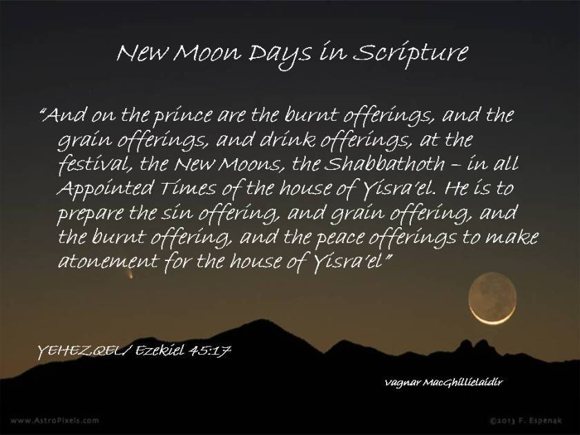 NEW MOON DAYS IN SCRIPTURE 8