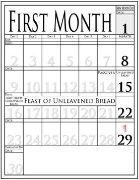 Calendar Month 1
