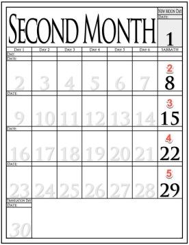 Calendar Month 2